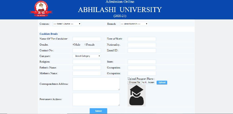 Abhilashi University Admission